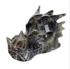 Labradorite Dragon Head