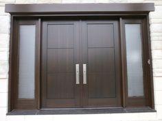 Custom Wood entry doors- Portes d'entrée en bois - Portes Bourassa