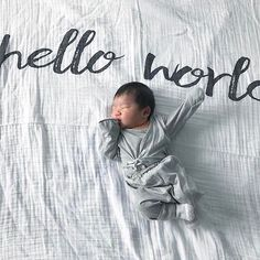 There is nothing better than welcoming a brand new baby to this world. Hello, little one!