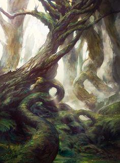 Battle for Zendikar Forest by Noah Bradley