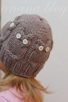 cutest owl beanie @Sarah Leslie please oh please can you do this...