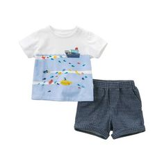 2a31d723c DB10761 dave bella summer baby boys fashion clothing sets casual short  sleeve suits children ocean print clothes