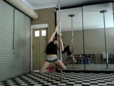 Beginner Pole Dance routine to Usher -  OMG