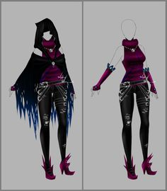 Outfit design - 89 - open by LotusLumino.deviantart.com on @deviantART