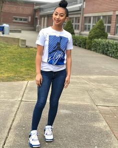 trendy outfits for summer . trendy outfits for school . trendy outfits for women . Boujee Outfits, Swag Outfits For Girls, Teenage Girl Outfits, Cute Swag Outfits, Teenager Outfits, Teen Fashion Outfits, Look Fashion, Trendy Outfits, Outfits With Jordans
