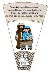 FREE: Die Weihnachtsgeschichte als Legekreis.