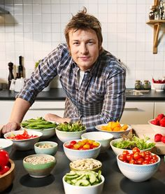 ~The One, The Only ~ Jamie Oliver ~ :)  brilliant food revolutionist - now if only i could convince him to go raw vegan! :)