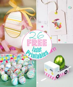 26 FREE Easter Printables