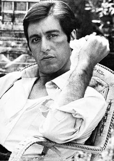 Al Pacino on the set of The Godfather, 1972. Al Pacino played Michael Corleone in the Godfather film trilogy and was twice nominated for an Academy Award for his portrayal. Michael is the youngest son of Carmela Corleone and Don Vito Corleone.