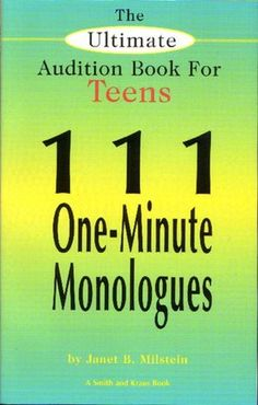 teen monologue 1 misunderstood Here's monologue blogger's list of 1 minute teen monologues for girls and guys we've shared 15 effective short monologues for your auditions you will find both comedy and drama around 60 seconds long each.