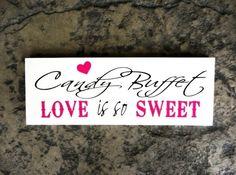 for wedding candy bar!