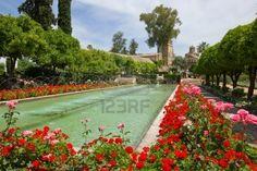 Jardins de l'Alcazar de los Reyes Cristianos à Cordoue, Espagne Banque d'images - 14148456