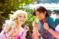 Disney´s Animation Movies. Tangled. Characters: Rapunzel & Flynn. Cosplayer: Laura Salviani & Dairo Albanessi. Photo: Sylvain Leobon. Event: Manga Party  2011.