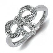 Sterling Silver Diamond Fashion Ring - Promise Ring