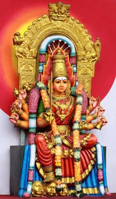 Colorful hindu temple Stock Photos, Illustrations and Vector Art | Depositphotos® Asian Architecture, Hindu Temple, Amman, Divine Feminine, Gods And Goddesses, Deities, Royalty Free Photos, Wicca, Vector Art