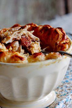 Chicken & Chorizo Pie with Puff Pastry
