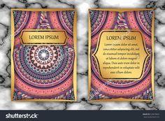 Invitation Card Design Template. Vintage Decorative Elements With Mandala, Delicate Floral Pattern. Islam, Arabic, Indian, Ottoman, Aztec Motifs Stock Vector Illustration 529079662 : Shutterstock