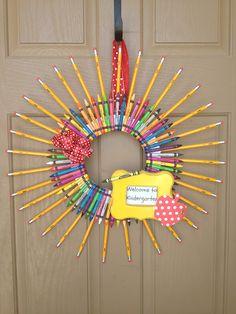 Welcome to Kindergarten wreath