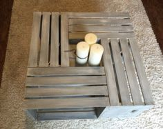 Custom 4-crate coffee table