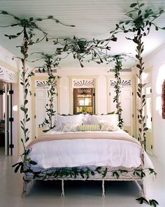 We're thrilled that vine entwined canopy bed has been featured in the new vogue living book! Read the article in our story. Master Bedroom Design, Dream Bedroom, Master Bedrooms, Fairytale Bedroom, Whimsical Bedroom, Romantic Room, Vogue Living, Rustic Bedding, Room Interior Design