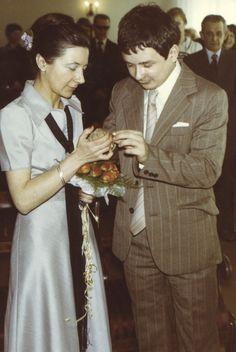 Ślub cywilny Marii Mackiewicz i Lecha Kaczyńskiego, Warszawa, 27 kwietnia 1978