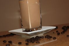 Mocha-Fudge Protein Smoothie, COFFEE AND FUDGE what else could a girl ask for.  This #healthyrecipe for a #proteinshake is like a dream come true.  You won't be able to stop drinking it.  Its DIVINE.