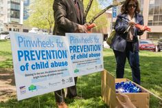 Pinwheels are planted in parks as part of the Prevent Child Abuse North Carolina program. The opening ceremony was on April 5th at Nash Square, Raleigh, NC.