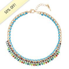Beaded + Braided Collar Necklace