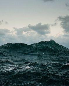 blue water / black heart.