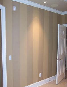 Tip: Creative use of paint sheens. To create a subtle pattern on your walls,use different paint sheens. Start by painting a base color in a flat or eggshell finish. Use a clear acrylic or polyurethane in a satin or semi-gloss and paint that over the flat Painting Over Paneling, Paint Sheen, Basement Bedrooms, Basement Remodeling, House Painting, Family Room, Home Improvement, New Homes, House
