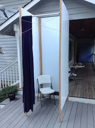 2x Portable Cabana Stripe Changing Room Privacy Tent Pool