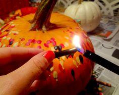 The Swede Records: diy crayon pumpkins