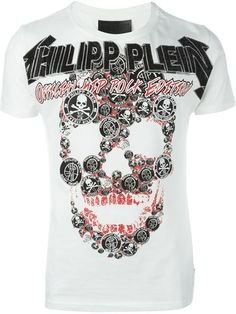Philipp Plein 'Soloman' T-shirt Fashion Outfits, Womens Fashion, Trends, Versace, Adora Batbrat, Tee Shirts, Short Sleeves, Black And White, Dressing Room