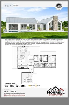 Farm house design Farm house design Image Size: 1242 x 1869 Source House Layout Plans, Barn House Plans, New House Plans, Dream House Plans, Small House Plans, House Layouts, Modern Barn House, Modern House Design, Modern House Floor Plans