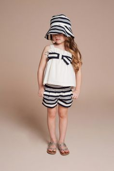 Sweet retro matching hats for kidswear from Hucklebones spring 2014