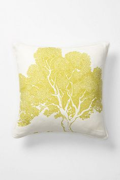 Anthro Beech tree $148.  Gorgeous.  Simple DIY.  The backside of these pillows have the bark painted on it.