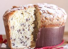 Panettone, an Italian Christmas Sweet Bread a not too sweet yeast bread, filled with raisins, candied fruit or Chocolate Chips. A delicious way to celebrate the Holidays. Italian Christmas Cake, Christmas Bread, Christmas Desserts, Christmas Baking, Christmas Cookies, Christmas Chocolate, Christmas Recipes, Holiday Recipes, Italian Bread Recipes