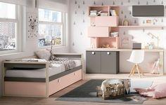 Camas nido en dormitorios juveniles Girls Room Design, Girl Bedroom Designs, Teen Room Decor, Room Decor Bedroom, Twin Girl Bedrooms, Youth Rooms, Bedroom Organization Diy, Cute Bedroom Ideas, Dream Rooms
