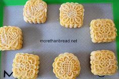 More Than Bread: Custard Moon Cake 奶黃月餅 Moon Cake, Custard, Waffles, Cooking Recipes, Asian, Bread, Baking, Breakfast, Food