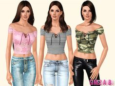 Found in TSR Category 'Sims 3 Female Clothing' Sims 3 Cc Clothes, Sims 4 Clothing, Female Clothing, Sims 3 Mods, Sims Cc, Sims 3 Cc Finds, Casual Outfits, Casual Jeans, Clothes For Women