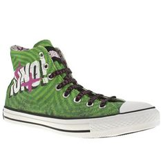 Mens Converse All Star Green Day Uno Hi Trainers