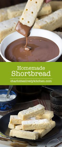 Melt-in-your-mouth shortbread. Perfect for dipping in warm melted ...