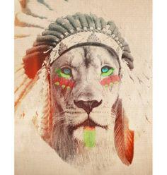 Lion with Headdress