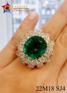 Add a shine to your hand by adorning this stunning emerald wedding ring