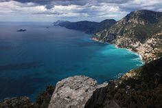 """Hiking along """"Sentiero degli Dei"""" (the """"Gods Path"""")"""