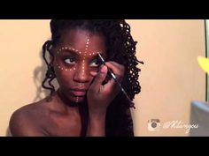 African face paint tutorial: DOTS This is great and simple but DON'T use acrylic paint on your face, opt for face paint instead