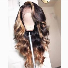 Wiccawigs Customized Ombre Color Brazilian Full Lace Wigs With Baby Hair Glueless Lace Front Wigs Pre Plucked Hairline Box Braids Hairstyles, Frontal Hairstyles, African Hairstyles, Black Hairstyles, Beautiful Hairstyles, Curly Hair Styles, Natural Hair Styles, Wigs With Bangs, Human Hair Lace Wigs