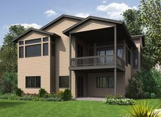 4 Bed Modern House Plan with Lower Level - 23621JD thumb - 02