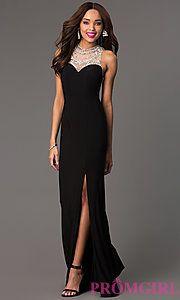 Buy Black Sleeveless Floor Length Dress at PromGirl