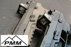 """PMM is now machining Sig Sauer """"P"""" series pistolstomount a Trijicon RMR toyour pistol. The RMR cut will result in a co-witness with suppressor sights (not included).Choose from a variety of finish options, including our proprietary two-part black epoxy coating, cerakote by Wicked Weaponry or leave the metal bare.Product Details:Cover Plates are CNC Constructed from6061 T6511 Aircraft-grade AluminumCover Plates are anodized in a 8625 type 3 class 2 industry standard hardcoat**Cover…"""